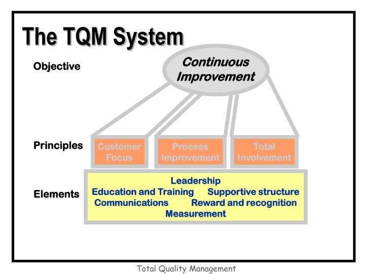 The TQM System