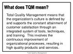 what does tqm mean