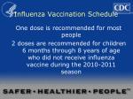 influenza vaccination schedule