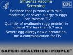 influenza vaccine screening