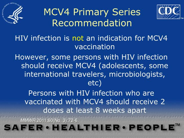 MCV4 Primary Series Recommendation