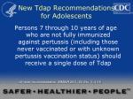 new tdap recommendations for adolescents