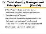 iv total quality management principles cont d1
