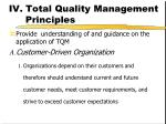 iv total quality management principles