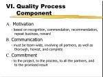 vi quality process component