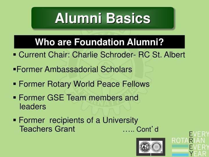 Alumni Basics
