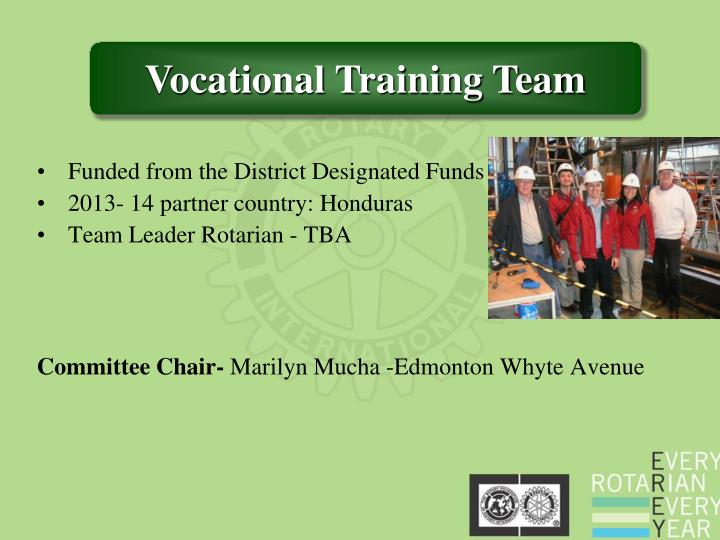 Funded from the District Designated Funds