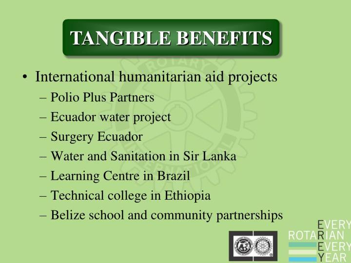 International humanitarian aid projects