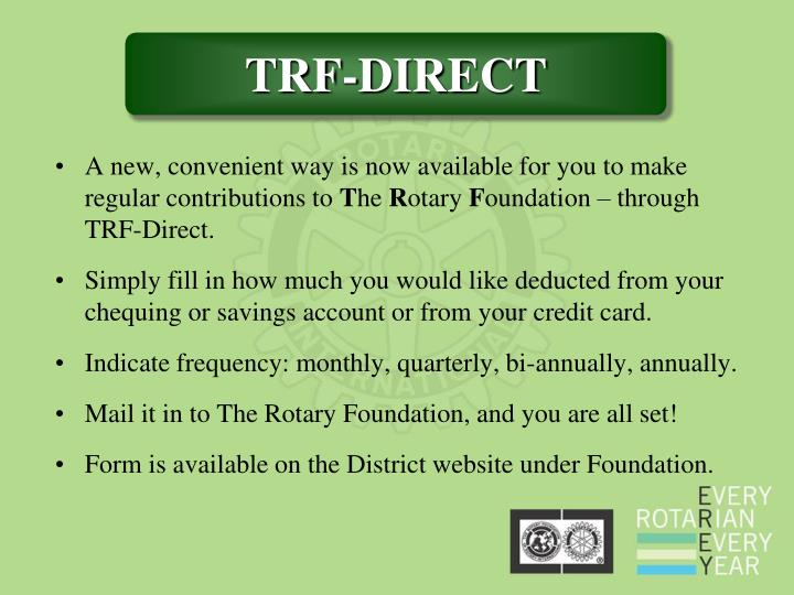 A new, convenient way is now available for you to make regular contributions to