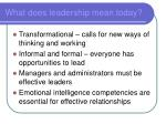 what does leadership mean today