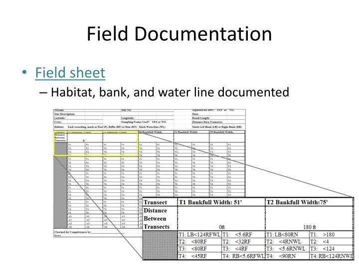 Field Documentation
