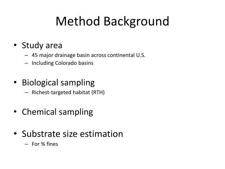 Method Background