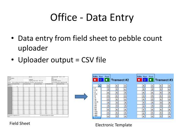 Office - Data Entry