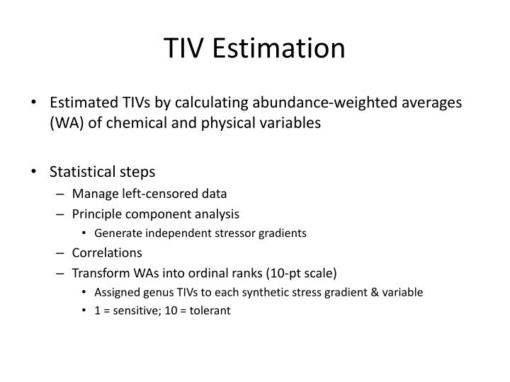 TIV Estimation