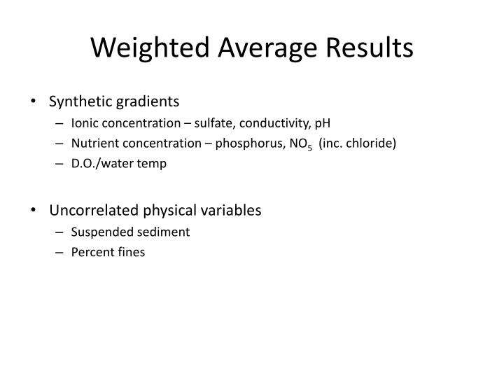Weighted Average Results