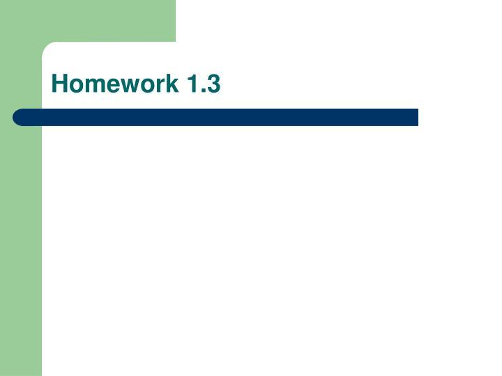 Homework 1.3