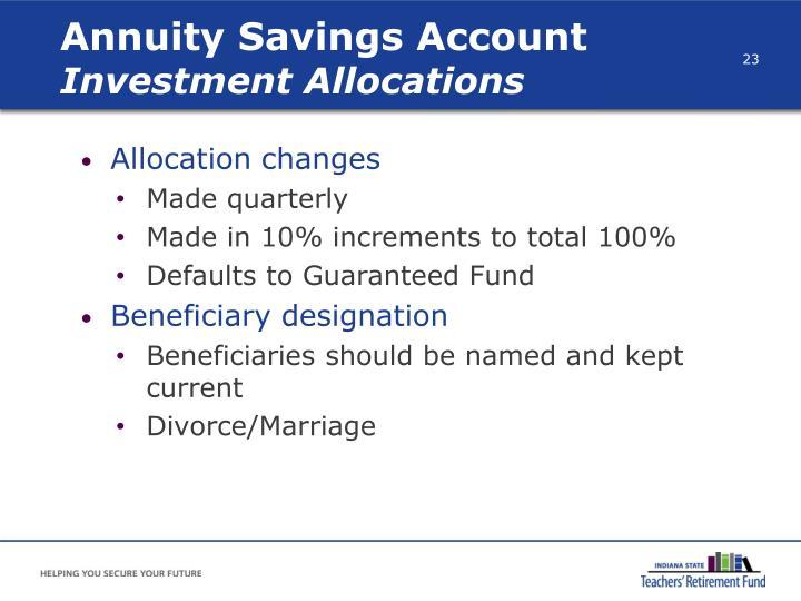 Annuity Savings Account