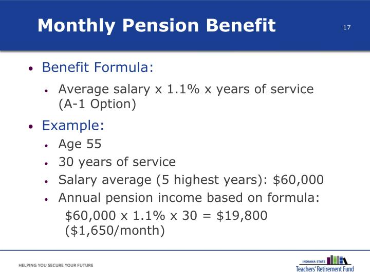 Monthly Pension Benefit