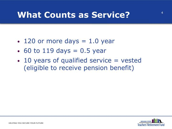 What Counts as Service?