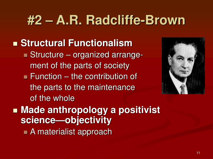 #2 – A.R. Radcliffe-Brown