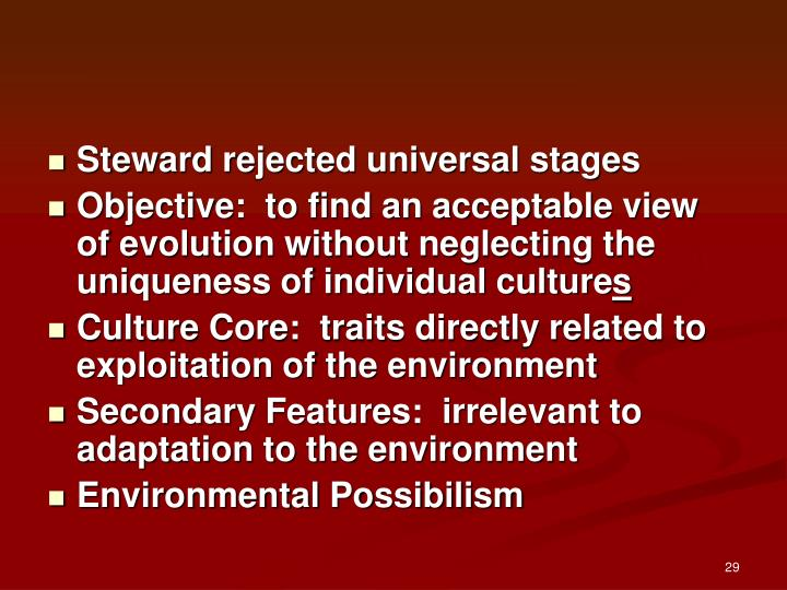 Steward rejected universal stages