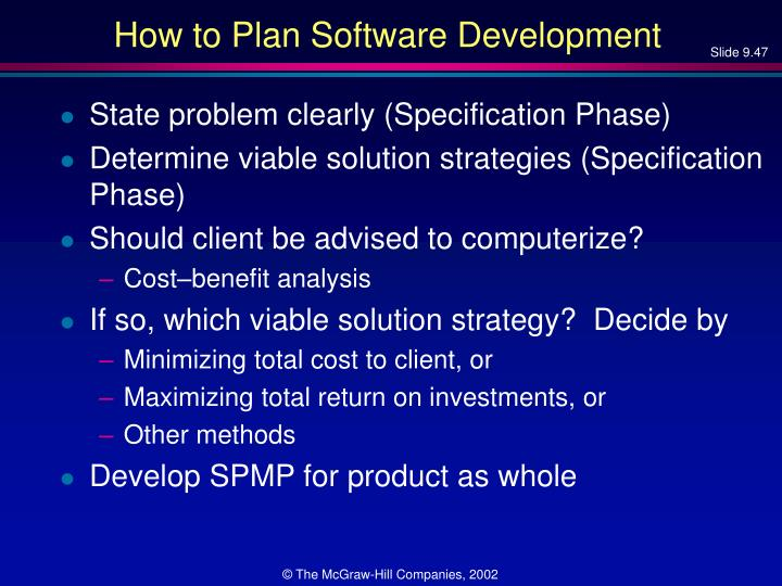How to Plan Software Development