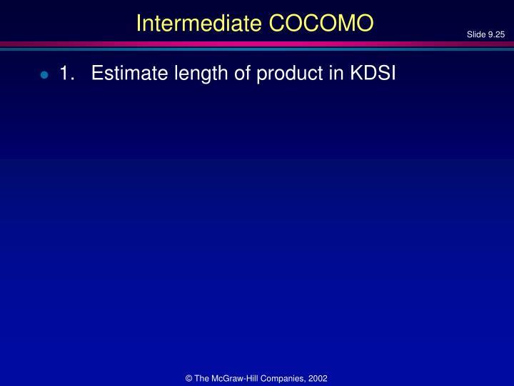 Intermediate COCOMO