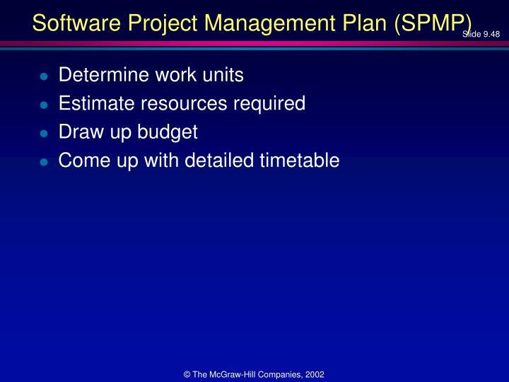 Software Project Management Plan (SPMP)