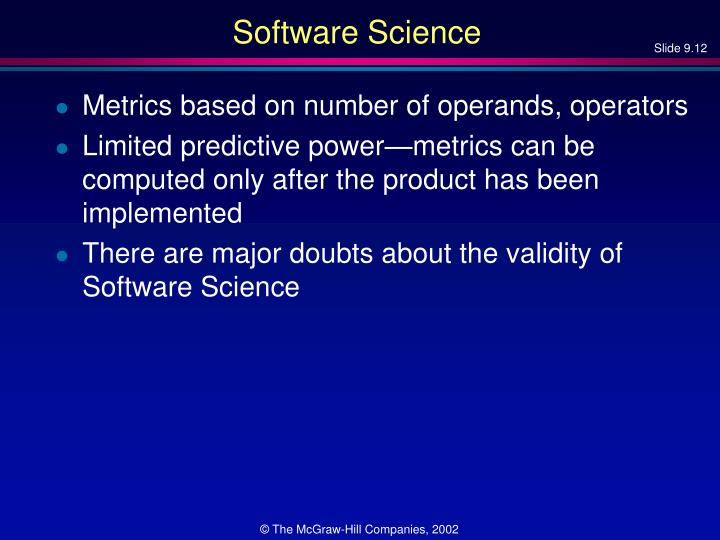 Software Science