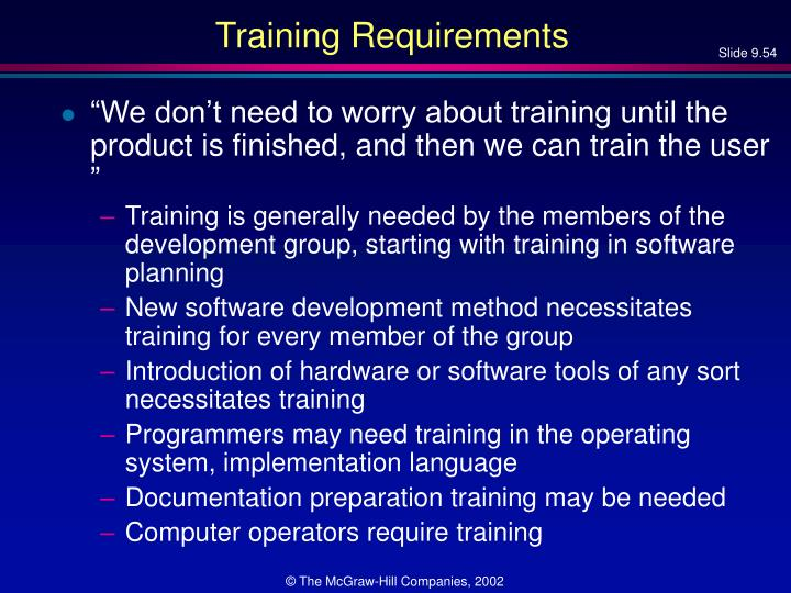 Training Requirements
