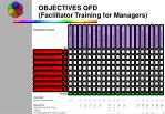 objectives qfd facilitator training for managers