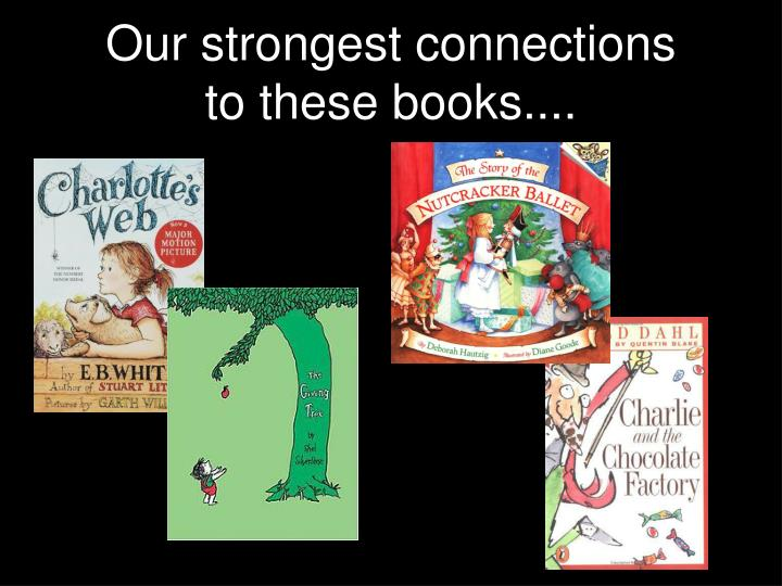 Our strongest connections to these books....