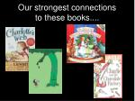 our strongest connections to these books