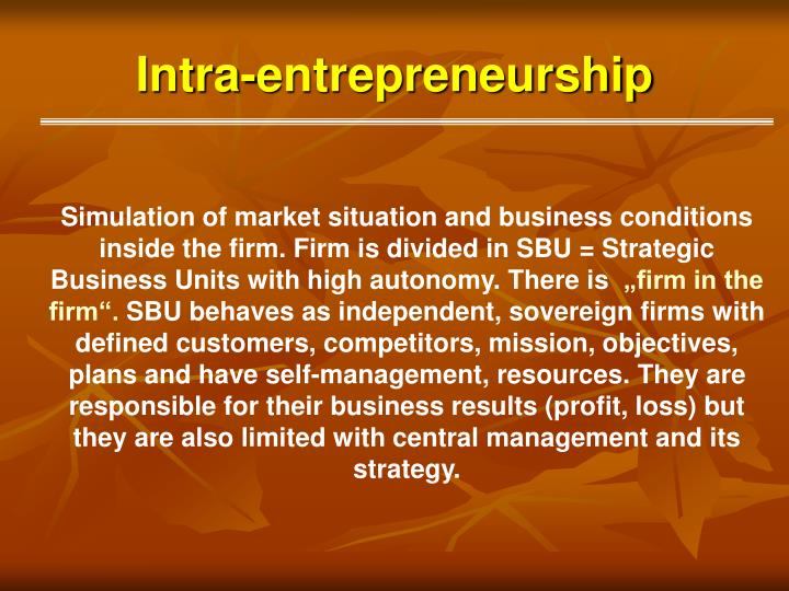 Intra-entrepreneurship
