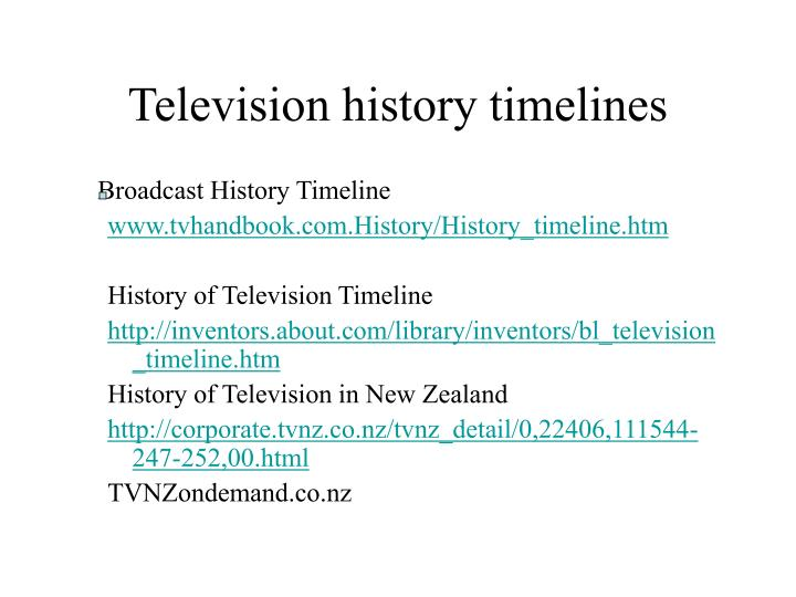 Television history timelines