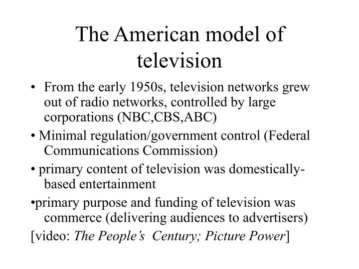 The American model of television