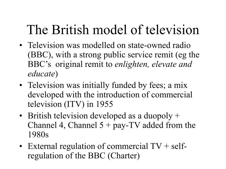 The British model of television