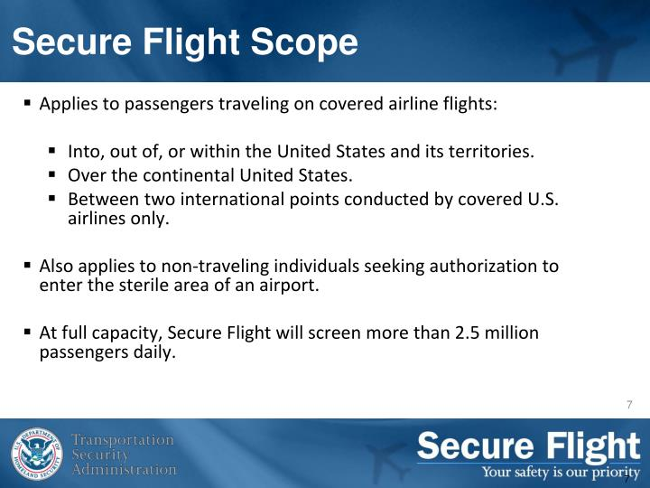 Secure Flight Scope