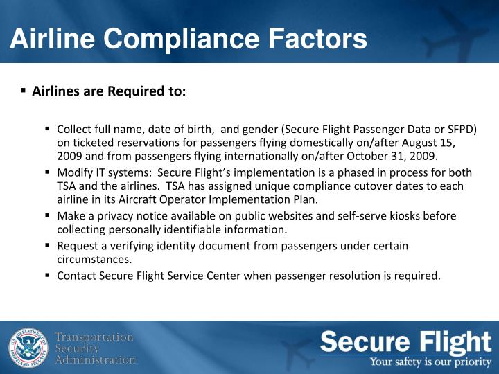 Airlines are Required to: