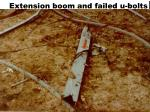 extension boom and failed u bolts