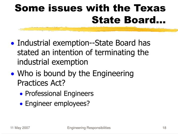 Some issues with the Texas State Board...
