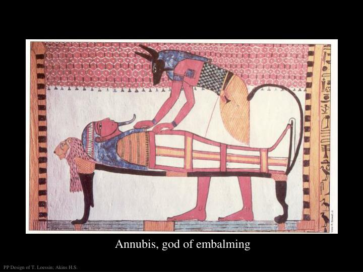 Annubis, god of embalming