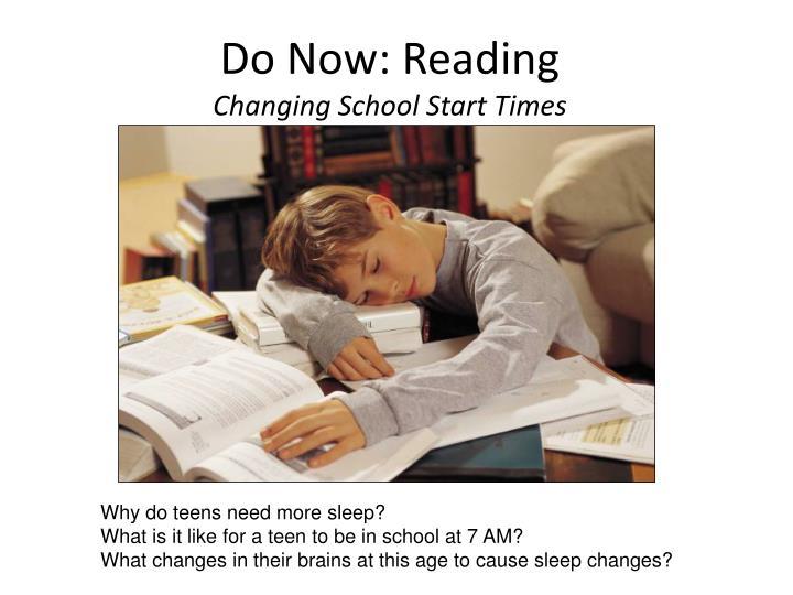 Do Now: Reading