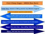 first 4 sleep stages nrem non rem