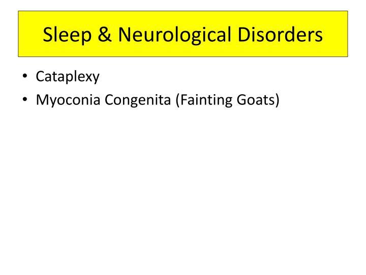 Sleep & Neurological Disorders