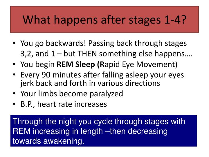 What happens after stages 1-4?