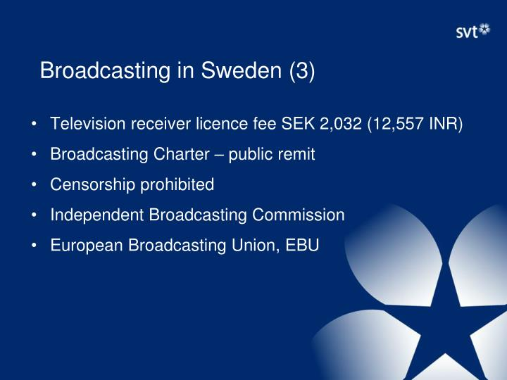 Broadcasting in Sweden (3)
