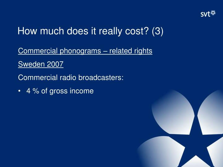 How much does it really cost? (3)