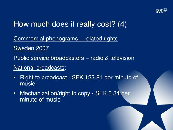 How much does it really cost? (4)