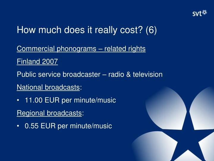 How much does it really cost? (6)